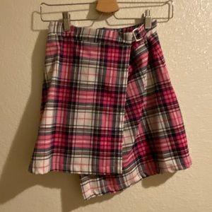 new brandy melville plaid pink emerson skirt